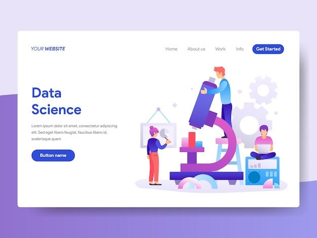 Ilustración de ciencia de datos para la página de inicio