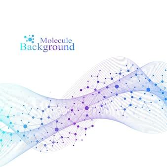 Ilustración científica concepto de ingeniería genética y manipulación genética hélice de adn