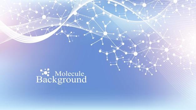 Ilustración científica, ingeniería genética y concepto de manipulación genética. hélice de adn. estructura abstracta para ciencia o antecedentes médicos.