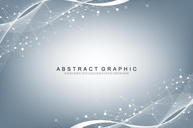 Ilustración científica, ingeniería genética y concepto de manipulación genética.