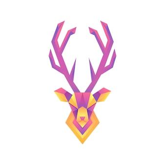 Ilustración de ciervo degradado colorido