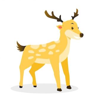 Ilustración de ciervo de dibujos animados