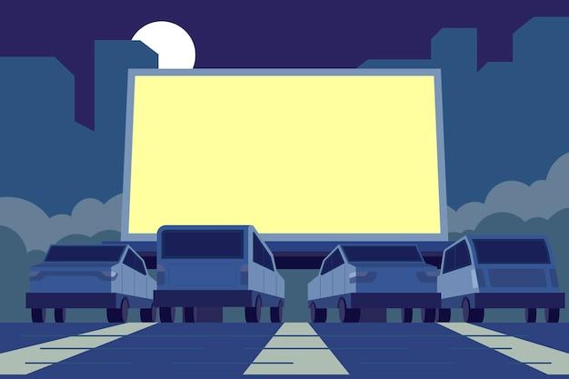 Ilustración de cine al aire libre