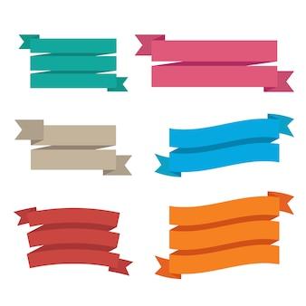 Ilustración de cinta sobre fondo blanco
