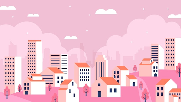 Ilustración de la ciudad moderna