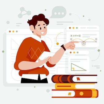 Ilustración de clase en línea