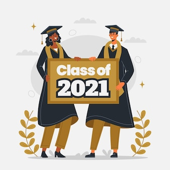 Ilustración de clase plana orgánica de 2021