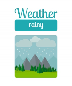 Ilustración de clima lluvioso