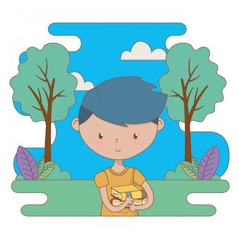 Ilustración de clip art de dibujos animados de chico adolescente