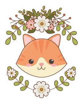 Ilustración de clip art de dibujos animados de gato aislado