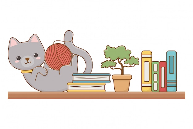 Ilustración de clip art de dibujos animados de gato
