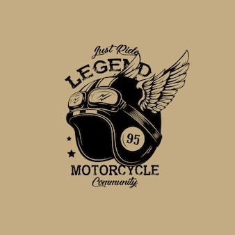 Ilustración del club de la motocicleta