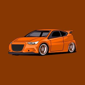 Ilustración del coche de la ciudad