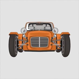 Ilustración coche clásico retro vintage