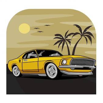 Ilustración del coche clásico