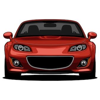 Ilustración de coche deportivo rojo