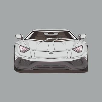 Ilustración de coche deportivo