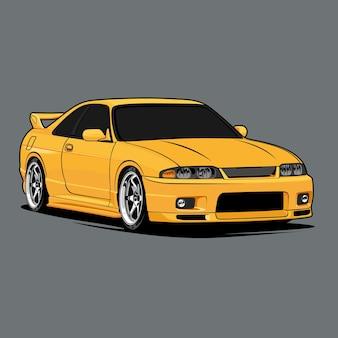 Ilustración de coche para diseño conceptual.
