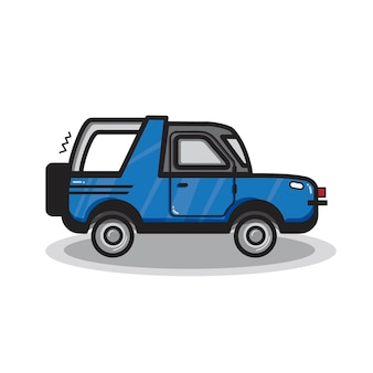 Ilustración de coche suv dibujado a mano