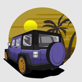 Ilustración de coche todoterreno