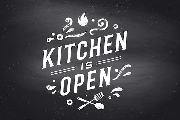 Ilustración de cocina abierta