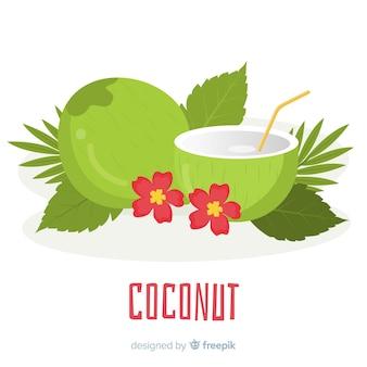 Ilustración coco dibujado a mano