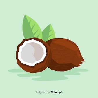 Ilustración coco plana