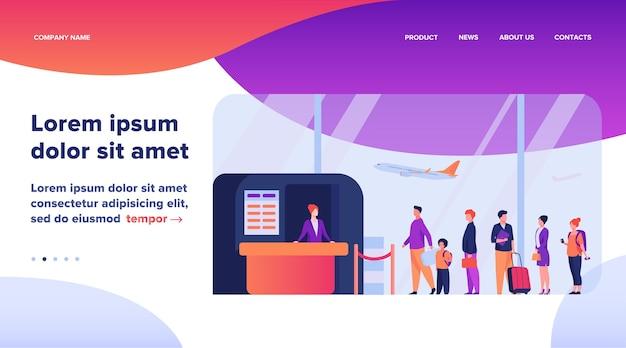 Ilustración de la cola del aeropuerto.
