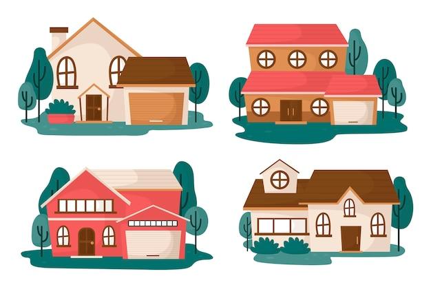 Ilustración de colección de casa