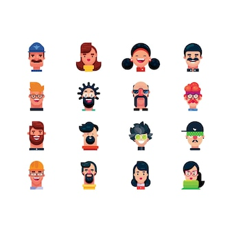 Ilustración de colección creativa divertida de avatar