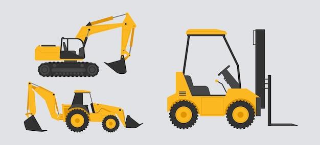 Ilustración de colección de excavadora