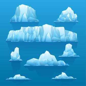 Ilustración de colección de iceberg