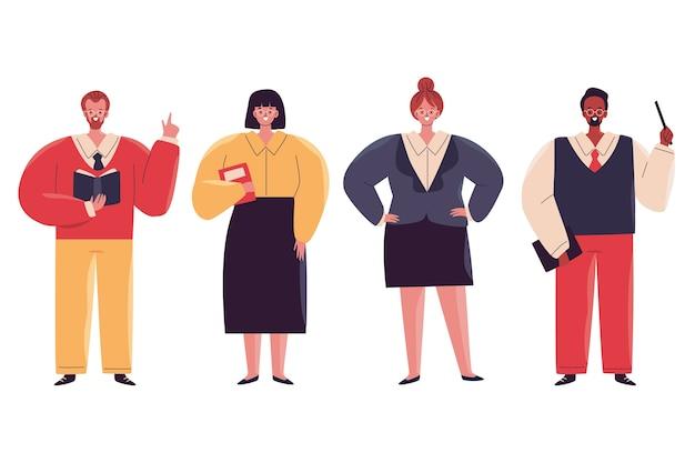 Ilustración de colección de maestros