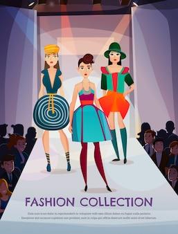 Ilustración de la colección de moda