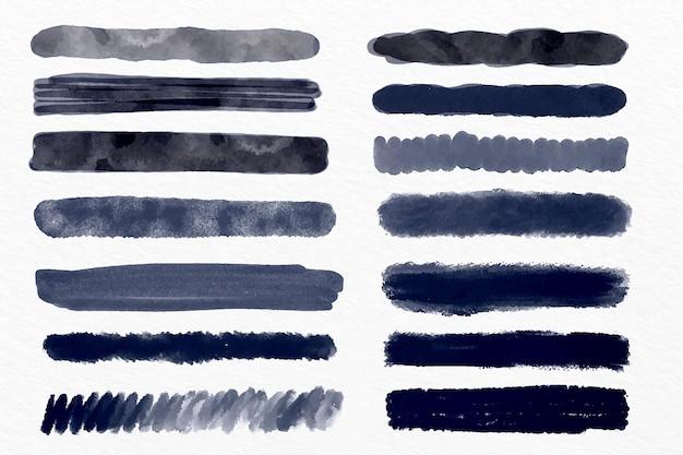 Ilustración de colección de trazo de pincel de tinta