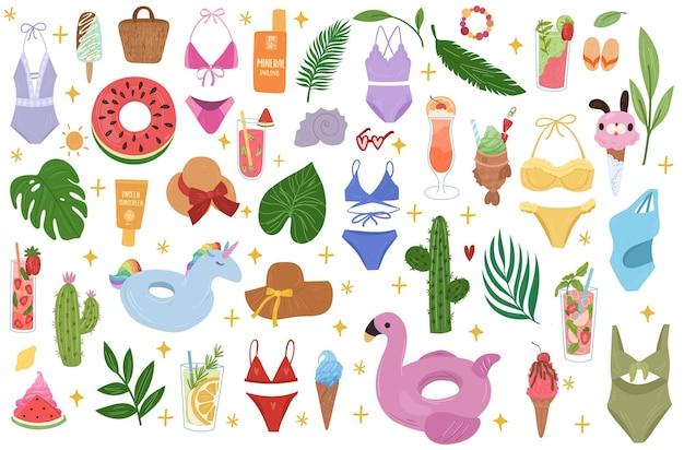 Ilustración de colección de verano