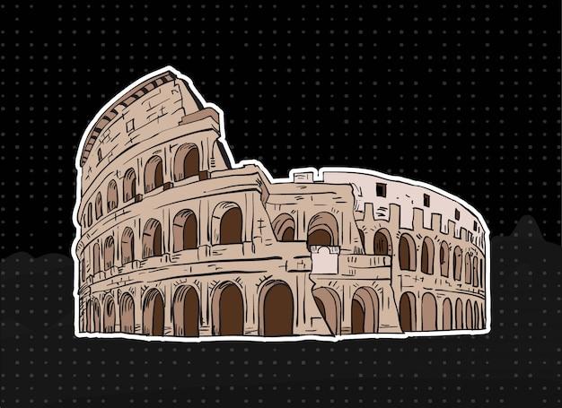 Ilustración del coliseo de roma
