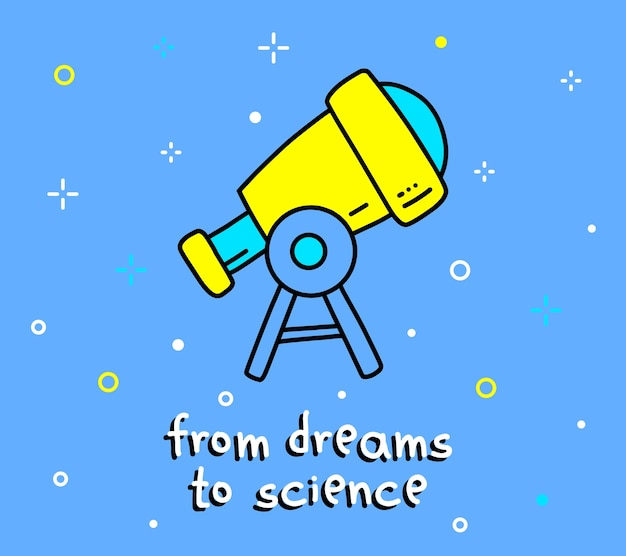 Ilustración en color del gran telescopio