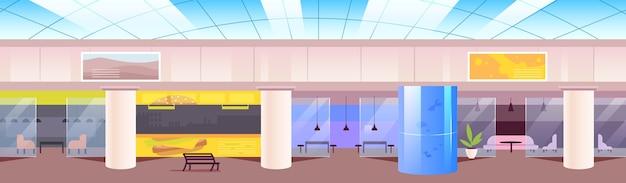Ilustración de color plano de patio de comidas