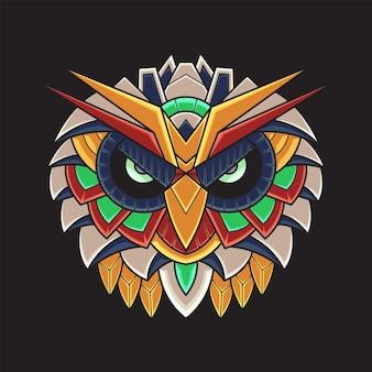 Ilustración colorida del búho