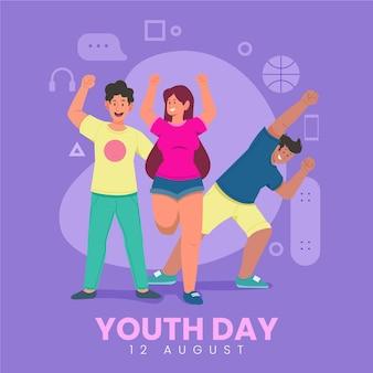Ilustración colorida del día de la juventud
