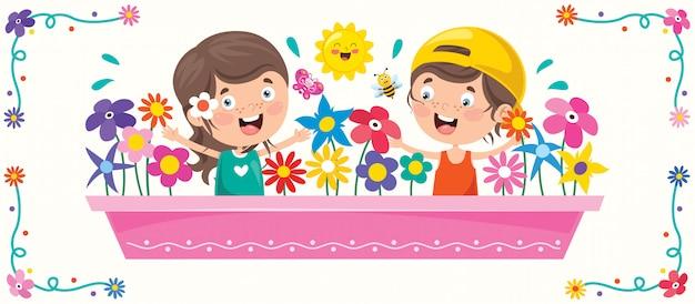 Ilustración colorida para el día del niño feliz