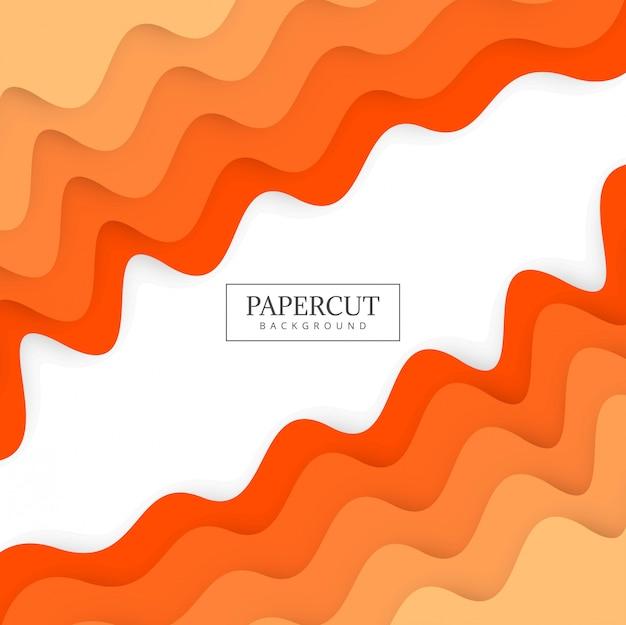 Ilustración colorida del diseño colorido de la onda de papercut