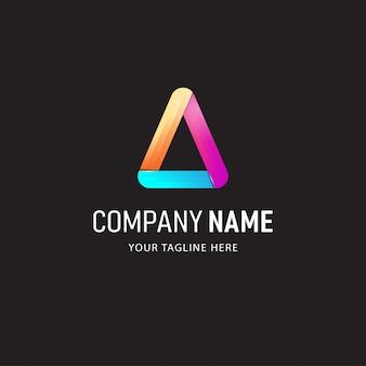 Ilustración colorida del diseño del logotipo de absract