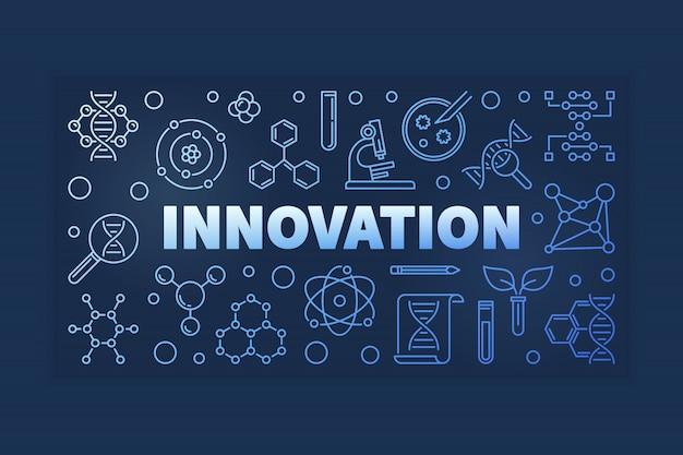 Ilustración colorida del esquema de la innovación genética