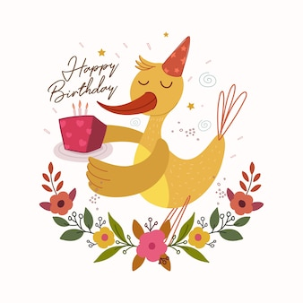Ilustración colorida feliz cumpleaños
