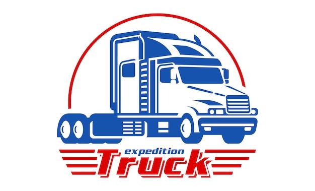 Ilustración colorida logo de camión