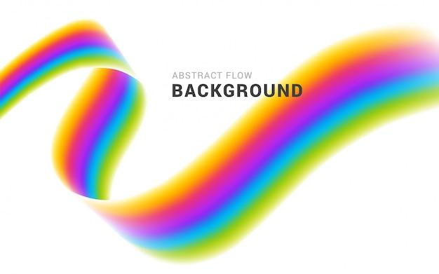Ilustración colorida moderna del vector del fondo del extracto del flujo.