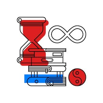 Ilustración colorida sobre filosofía