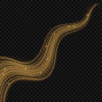Ilustración colorida del vector con los elementos decorativos de oro sobre fondo negro. plantillas abstractas para el diseño de vacaciones